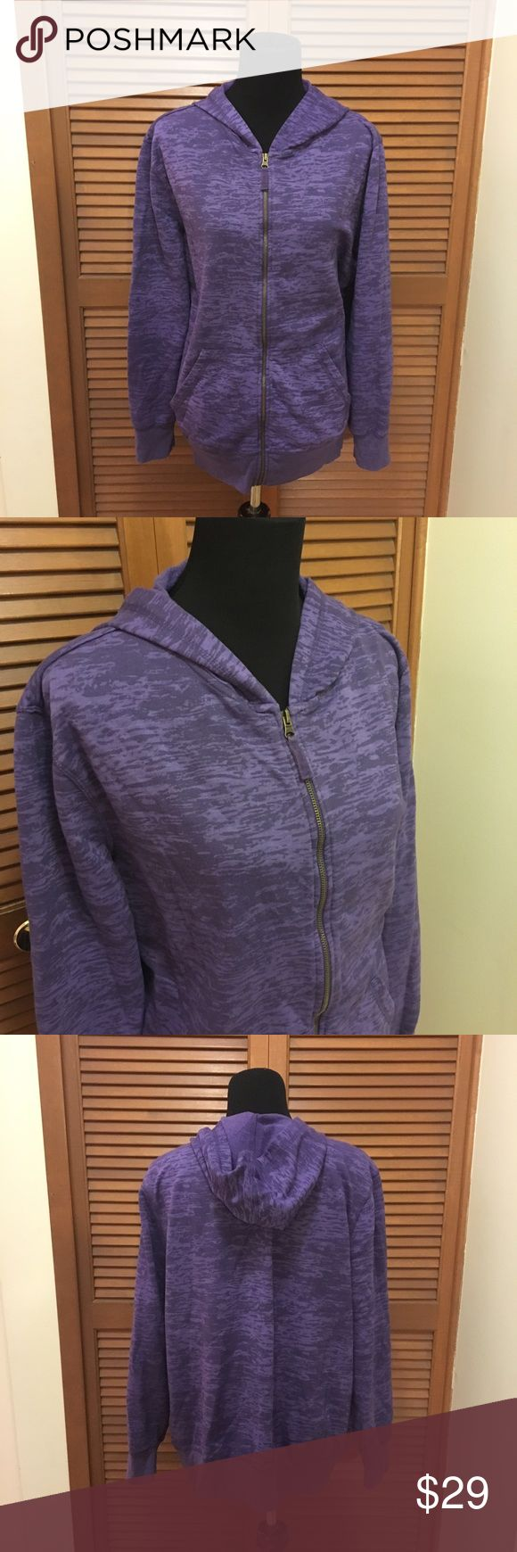 Pure Energy plus size purple hoodie 3X Pure energy purple zip up hoodie sweatshirt. 52% polyester 48% cotton. Bundle two or more items from my closet and save! Pure Energy Tops Sweatshirts & Hoodies