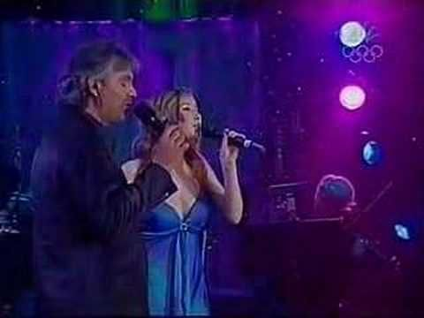 Andrea Bocelli & Hayley Westenra -Vivo Per Lei. Love Their Version of this song, and Love the figure Skating!! I remember watching this live.....