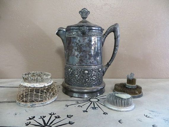Antique Water Jug Water Pitcher Reed and by VintageShoppingSpree