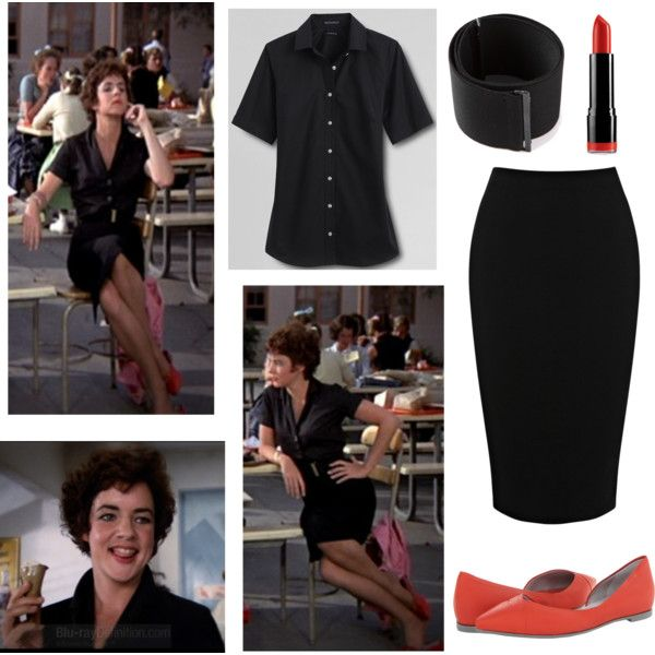 Rizzo - Grease by meta009 on Polyvore featuring polyvore, fashion, style, Lands' End, Warehouse, McQ by Alexander McQueen, A.F. Vandevorst, NYX and Everyday Minerals
