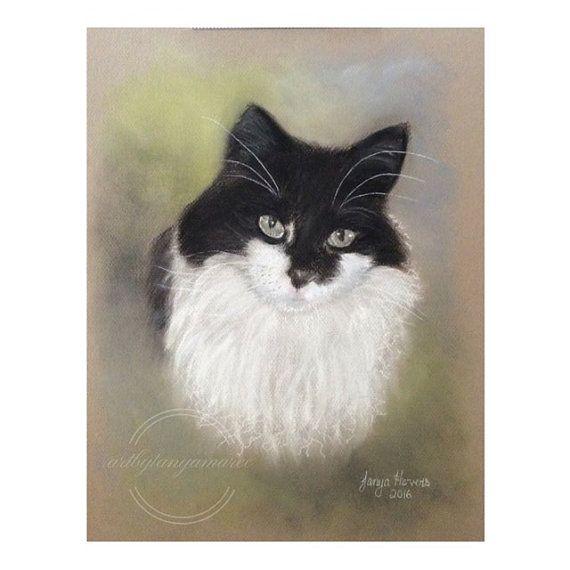 Custom pet portrait. Pastel drawing/painting. by Artbytanyamaree