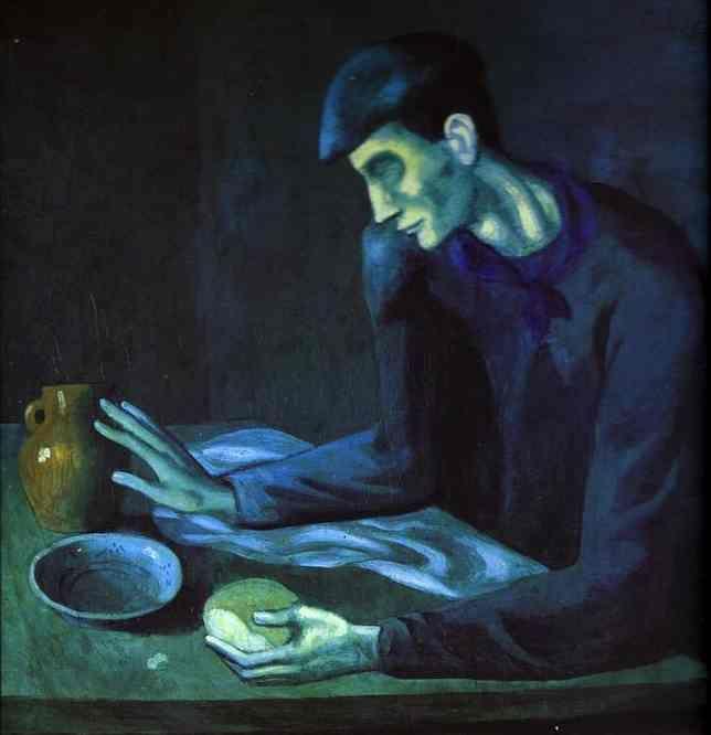 """Pequeno-almoço de um Homem Cego"""", Pablo Picasso"""
