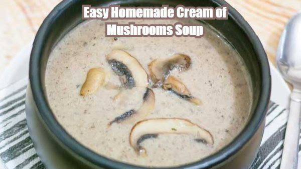 EASY HOMEMADE CREAM OF MUSHROOM SOUP – FLAVORFUL AND HEARTY  Simple, earthy, hearty, flavorful and fulfilling this homemade cream of mushroom soup is so easy to make with just a few simple ingredients you definitely have on hand.  Full recipe http://veenaazmanov.com/easy-homemade-cream-mushroom-soup/ Pin Recipe -