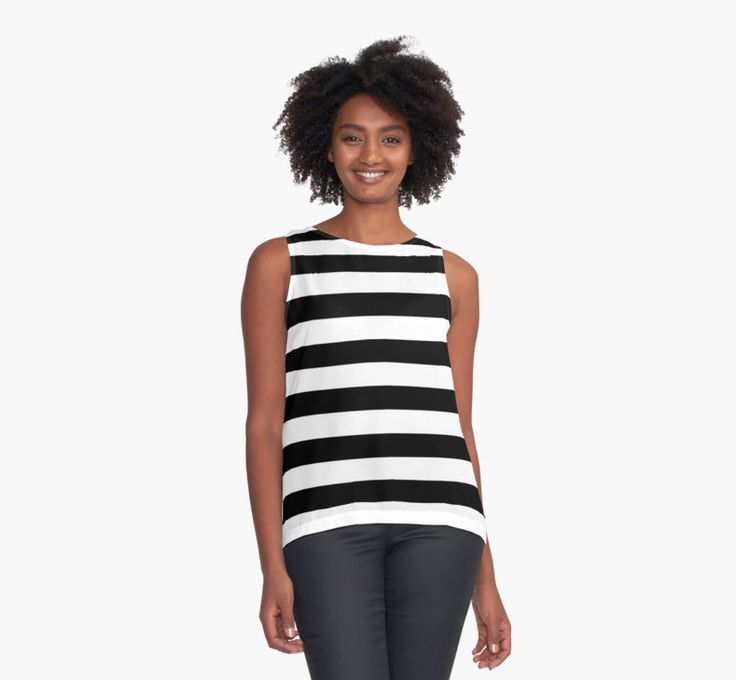 Black and white stripes pattern by cool-shirts
