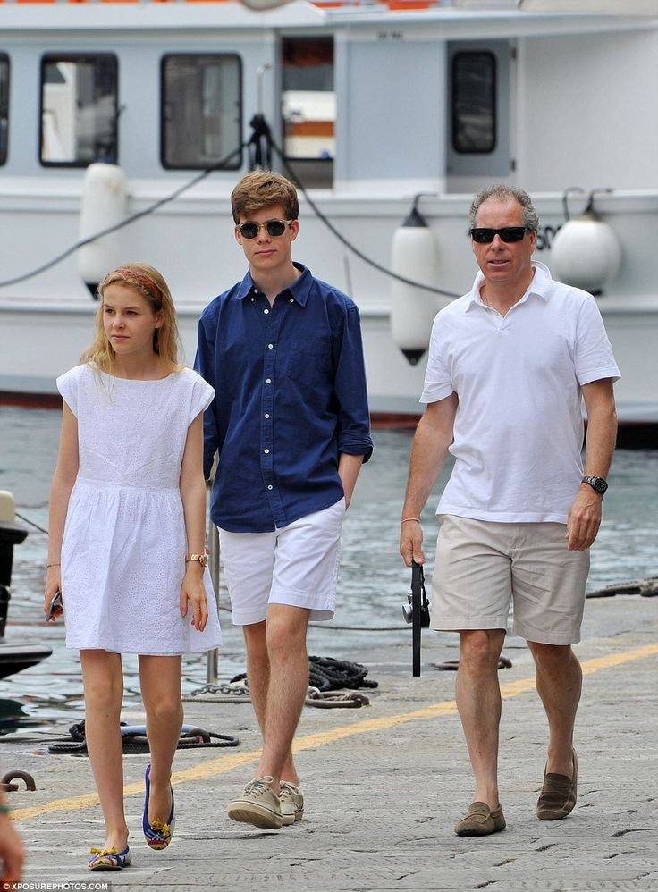 Viscount Linley strolled with his daughter, Margarita Armstrong-Jones, 14, who was a bride...