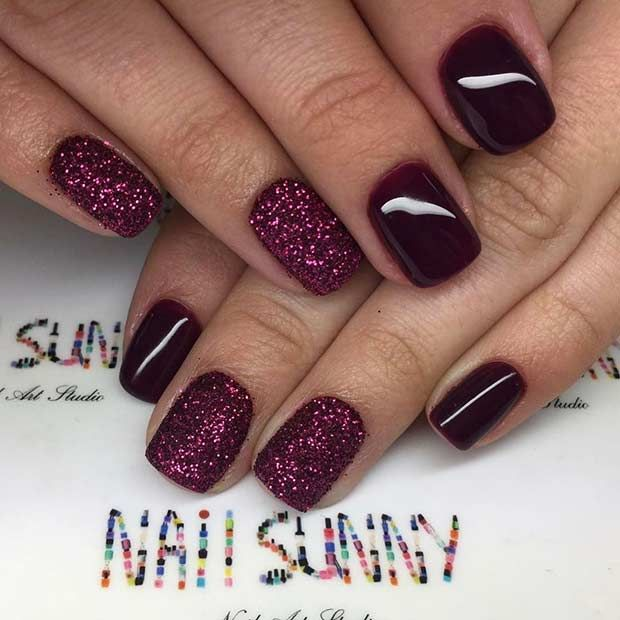 43 Chic Burgundy Nails You Ll Fall In Love With Page 2 Of 4 Stayglam In 2020 Maroon Nails Fall Acrylic Nails Burgundy Nails