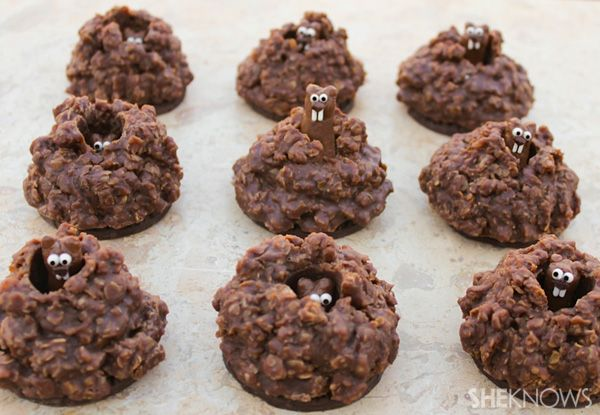 Pop-up groundhog cookies recipe...so cute!