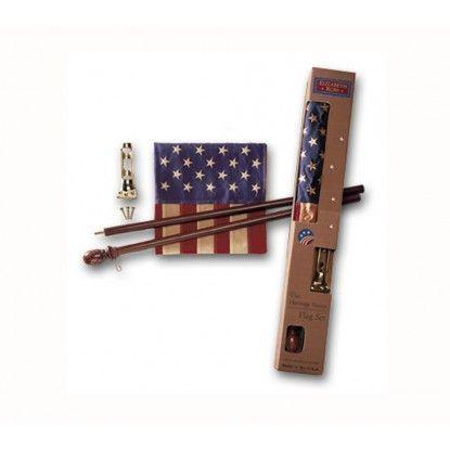 USA-Fahne im Set Heritage Series