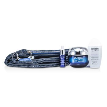 Biotherm Blue Therapy Set: Blue Therapy Cream SPF 15 50ml + Blue Therapy Serum 7ml + Biosource Micellar Water 30ml + Bag