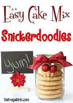 Snickerdoodle Cake Mix Plätzchen Rezept! ~ von TheFrugalGirls.com ~ diese Easy Cak …