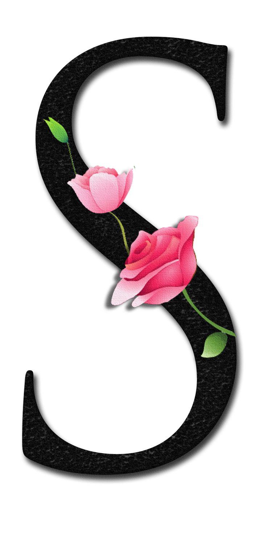 S Alphabet In Rose Glamorous Lady ...