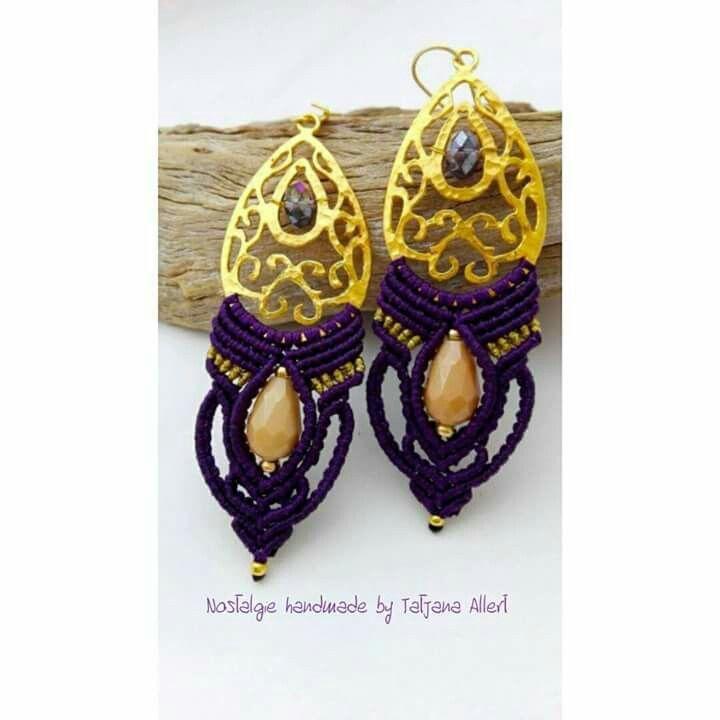 Macrame earrings  https://www.facebook.com/Nostalgiehandmade/