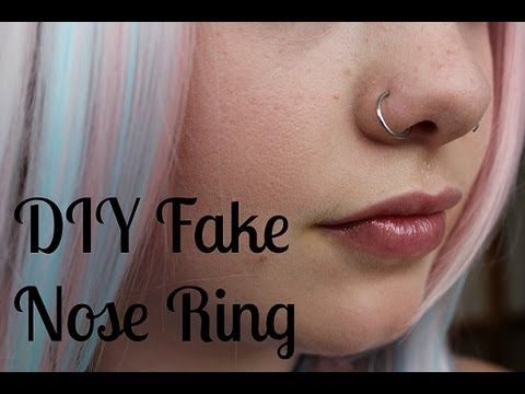 ▶ DIY How to Make a Fake Nose Ring - YouTube  good idea to try out a piercing before ACTUALLY getting it pierced