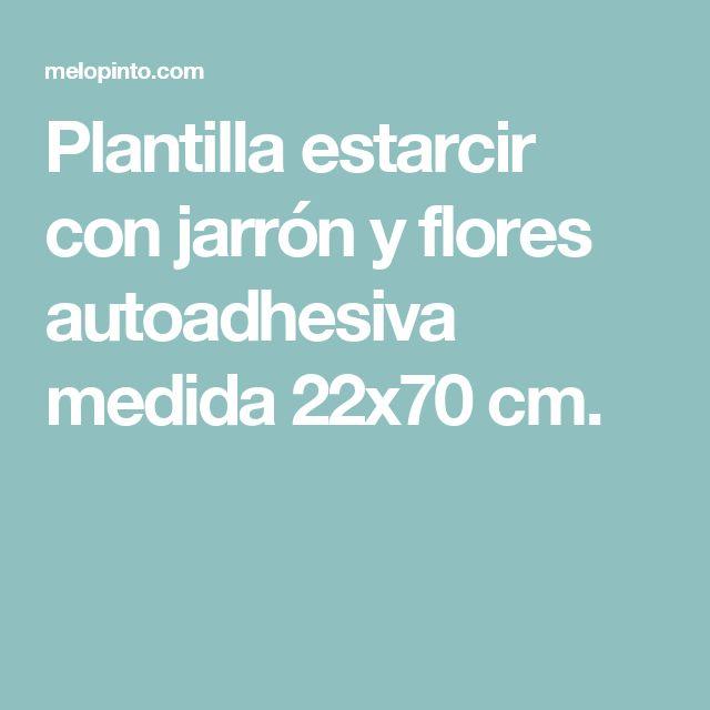 Plantilla estarcir con jarrón y flores autoadhesiva medida 22x70 cm.