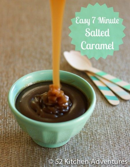 Easy 7 Minute Salted Caramel Sauce from @Stephanie Close Nuccitelli (52 Kitchen Adventures)