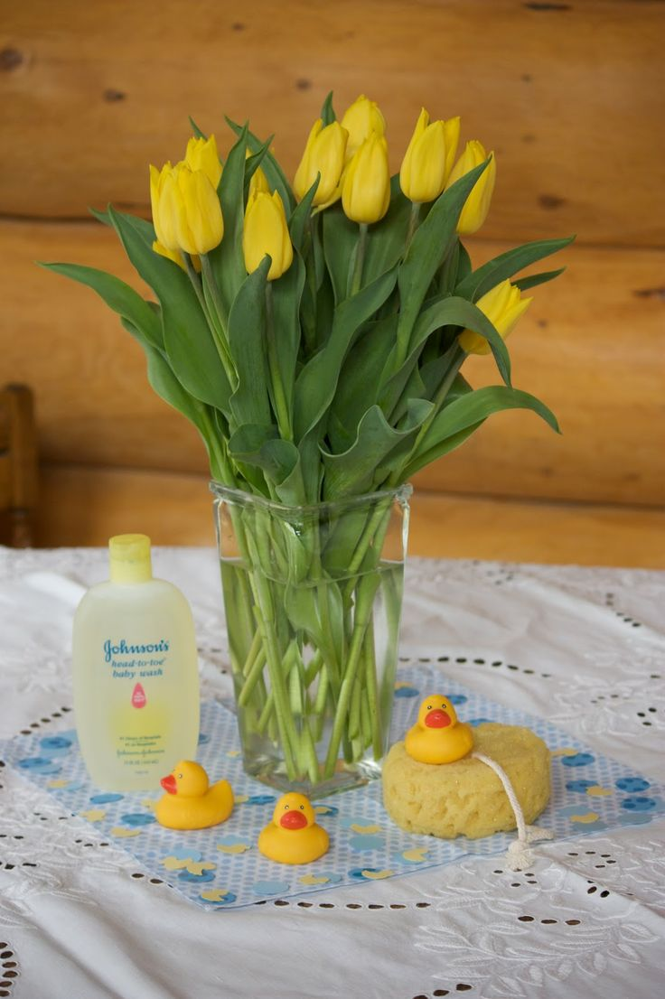 Again, loving the tulips! rubber ducky baby shower