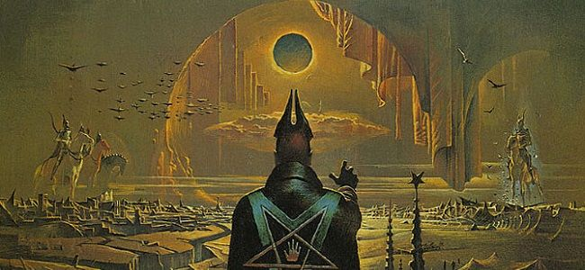 Aside from Frank Frazetta, Bruce Pennington is the name to know in terms of vintage sci-fi/fantasy art. The graphic genius composed some of the most iconic covers in the genre's history, including works for the Dune series and the New Sun Cycle. Here's a brief gallery of his maddening designs, from a time before the Apple-induced simplicity we're accustomed to today, when publishers wanted every square inch of the book jacket to scream bizarre adventure, alien vistas, and min...