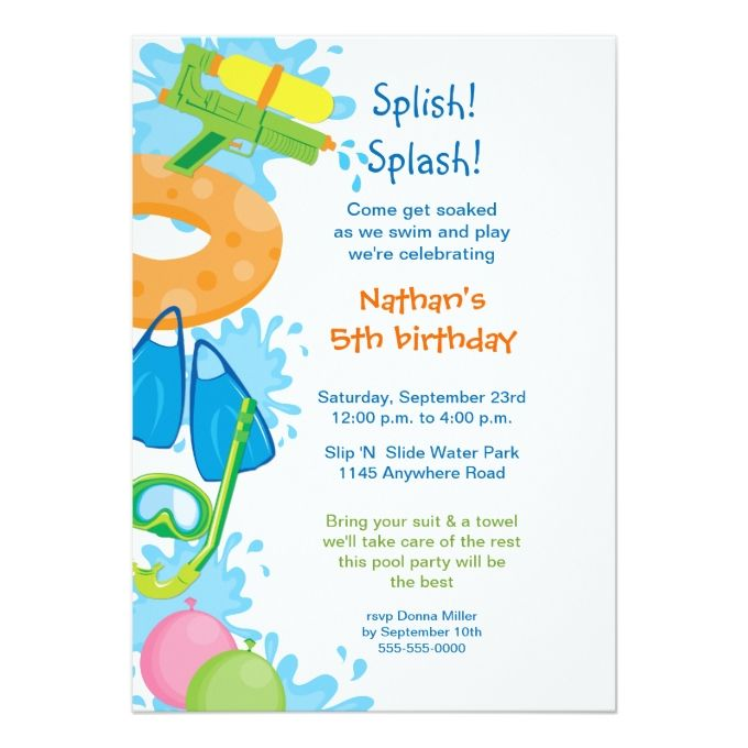 806 best Pool Party Invitations images on Pinterest Pool party - pool party invitation