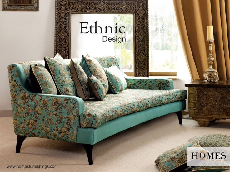 Soft and neutral colours like #Earthy brown & #Azure blue gives your #Room an #Ethnic appeal. It helps convey a subtle yet definitive statement about your #Class! Explore more at www.homesfurnishings.com #HomeFabrics #Upholstery #Furnishings #FineFabric #HomesFurnishings