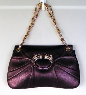 d6be853157d Gucci Limited Edition Tom Ford Purple Leather Crystal Dragon Bag ...