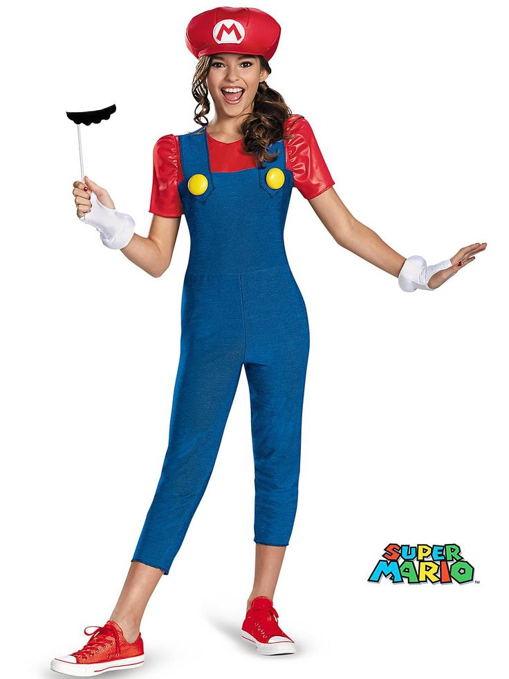Mario Tween Girl's Costume! See more #costume ideas for Halloween and more at CostumeSuperCenter.com