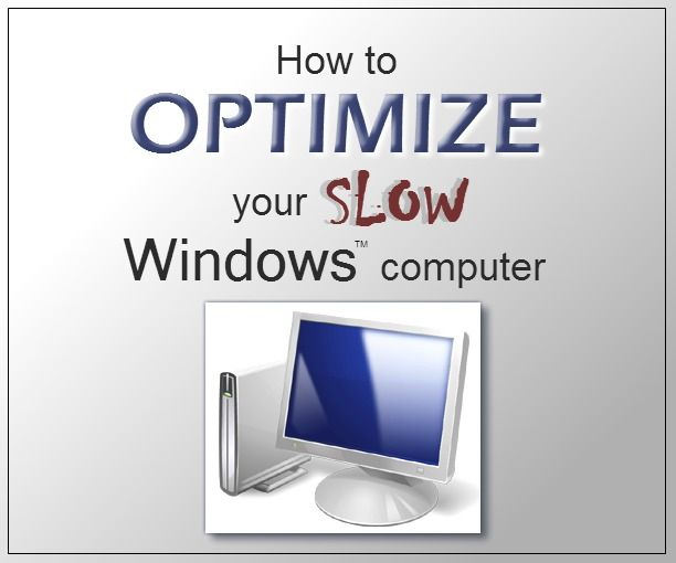 This tutorial will show you some ways to optimize the performance of your Windows computer, especially if it is running very slowly. We all know how frustrating it can be for a computer to take what seems like an eternity to perform a seemingly simple task.  A slow computer can cost you time and even money over the long run.  For many computers, there is a cure, and I don't mean a flashy new computer.  If you have a slow computer, a few hours to spare, and...