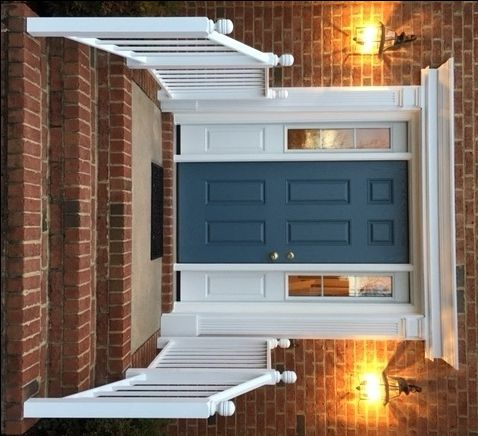 36x80 Heritage Model 006 Fiberglass Entry Door With 12x80 Model 130  Sidelights Installed By The Richmond