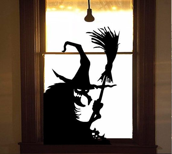 wicked witch 11 wall or window decal by makeyourwallspop on etsy halloween designsspooky - Halloween Design