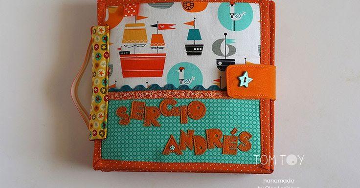 Handmade cloth quiet busy book for Sergio
