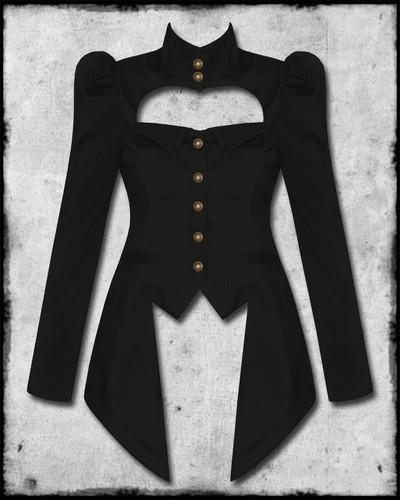 Wish | SPIN DOCTOR AMADEUS BLACK COPPER STEAMPUNK VICTORIAN GOTH LADIES MILITARY JACKET