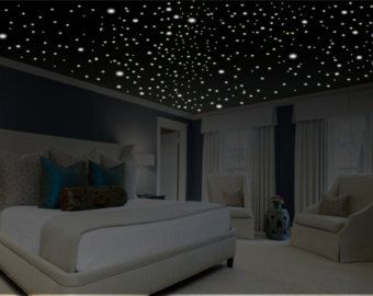 gifts romantic wall decal romantic wall art glow stars ceiling stars. Black Bedroom Furniture Sets. Home Design Ideas