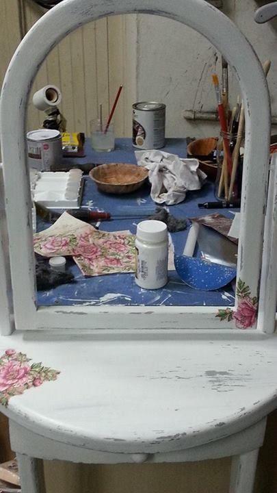 toaletka decupage