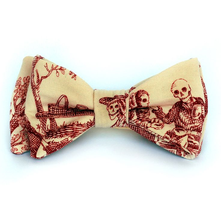 Pajarita Victorian Skulls bow tie - Wood and Rain bow ties