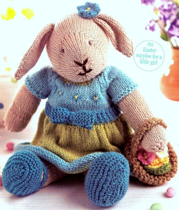 Love the old fashioned toys - Vintage Knitting Pattern PDF Easter Bunny Rabbit Dress and Easter Egg Basket Soft Toy | old fashioned toys | old fashioned toys kids | old fashioned toys to make | old fashioned toys diy | old fashioned toys for kids | Old fashioned toys | vintage knitting patterns |  NNT #ad #etsy  #knitting #knittingpattern #rabbit   #oldfashion #instantdownload #pdfpattern #diy #diycrafts