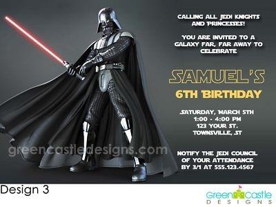 Best Star Wars Birthday Images On Pinterest Star Wars - Star wars birthday invitation maker