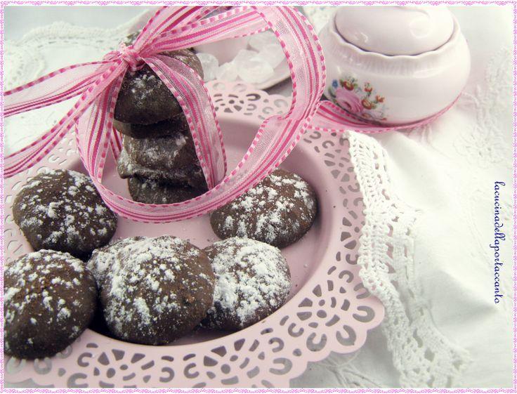 Biscotti dal cuore tenero di cioccolato