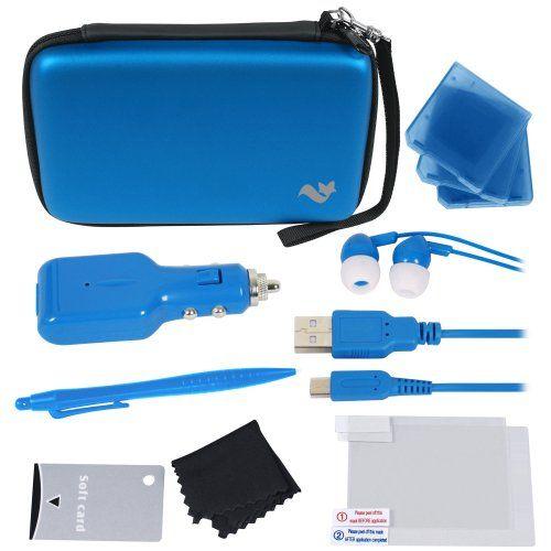Pack accessoires deluxe 12 en 1 de transport / housse pour New Nintendo 3DS XL (2015) – Bleu