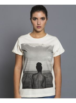 $30 Brighton Beach - Outloop  Unisex Tshirt Made by 100% organic cotton jersey , Made in Italy, light serigraphy printing. Streetwear relaxed fit. #Streetwear #Organic #T-shirt