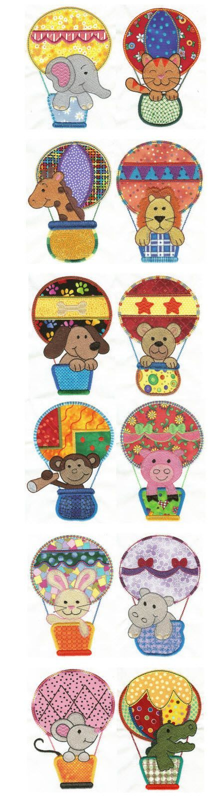 Designs by JuJu Up Up and Away Applique machine embroidery designs: