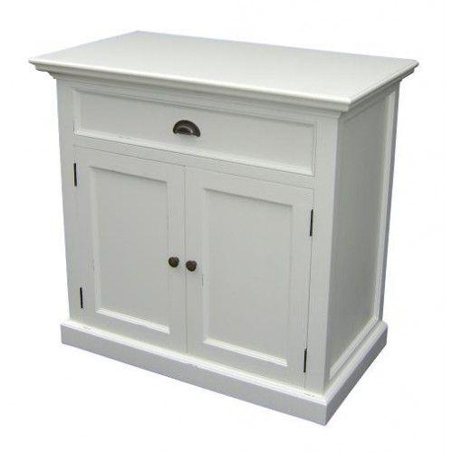 Petite commode blanche double portes style scandinave - Meubles scandinaves - Autres meubles   Votre Chez Vous