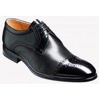 Barker Shoe Style: Barry - Black Hi-Shine / Nappa