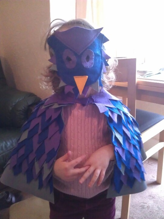Owl costume for Wild Animal day at preschool