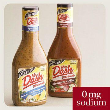 Mrs. Dash makes low-sodium/no-sodium marinades and seasonings.
