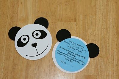 All Snug As A Bug: Panda Party Invitations