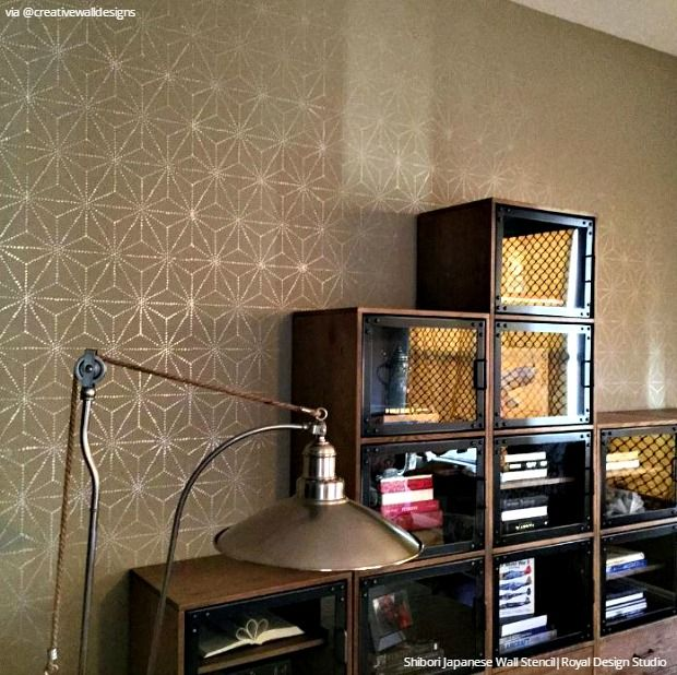 Interior Design Furniture Stencils ~ Best stenciled painted walls images on pinterest