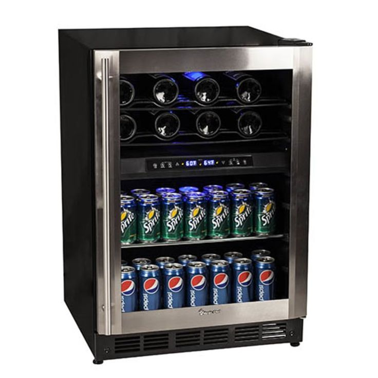 500magic chef dual zone wine and beverage cooler video image