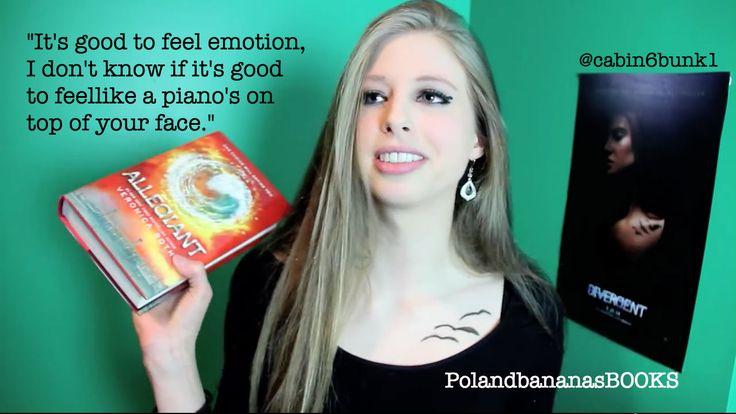 Christine Riccio/PolandbananasBOOKS Allegiant book talk @polandbananas20  Fan art by @cabin6bunk1  Click the pic to see the video! :)