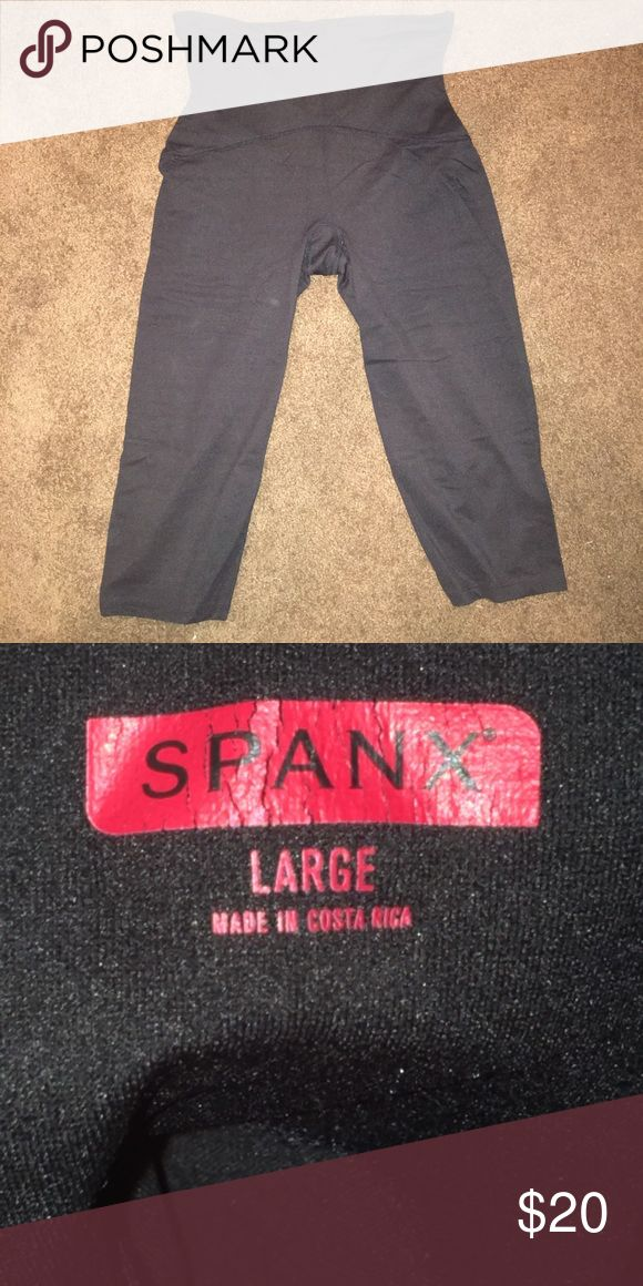 Spanx capris Women's high waist spanx capris, in good condition. No tears or stains. SPANX Pants Capris