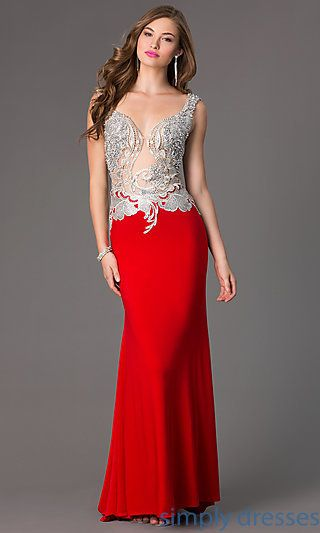 Beaded Evening Gown for Prom by Alyce 2425 at SimplyDresses.com