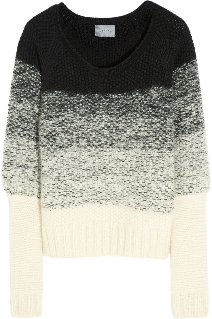 Maiyet |  Degradé chunky-knit mohair-blend sweater | NET-A-PORTER.COM (but I would switch the colours, light on top, dark on the bottom)